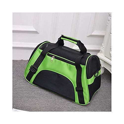 Haustier Rucksack Messenger Tragetaschen Katze Hund Träger Ausgehende Reise Teddy Packets Breathable Small Pet Handtasche (Color : Green, Size : 43x21x30cm) - 30 Großhandel Handtaschen