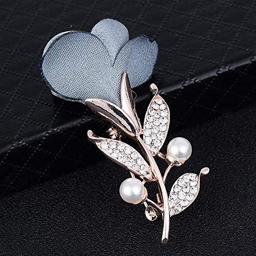 KXCTQ Brosche, Kreative Mode Bekleidungszubehör, Stoff Rose Blume Brosche, Bekleidungsgeschäft Baum Blatt Kleidung Brosche, 4