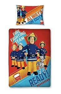 Personnage du monde 125x 150cm Fireman Sam Junior Panneau Housse de couette, Multicolore