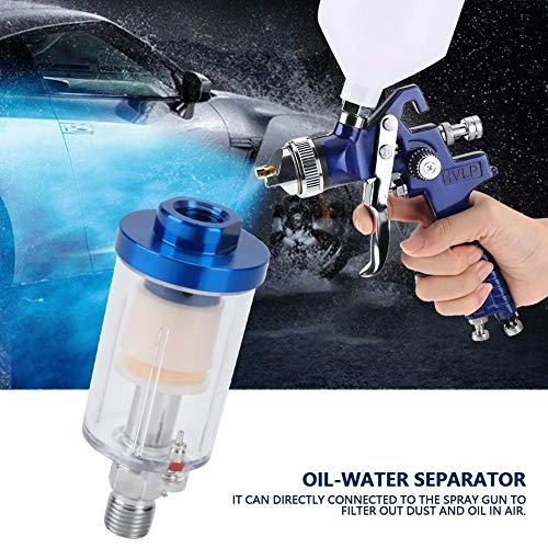 """1/4\"""" Luftfilter Wasserabscheider,Jectse Öl Wasser Abscheider Druckluft Mini-Filter Luftfilter Wasserabscheider Druckminderer,für Farbspritzpistole und Luftkompressor"""
