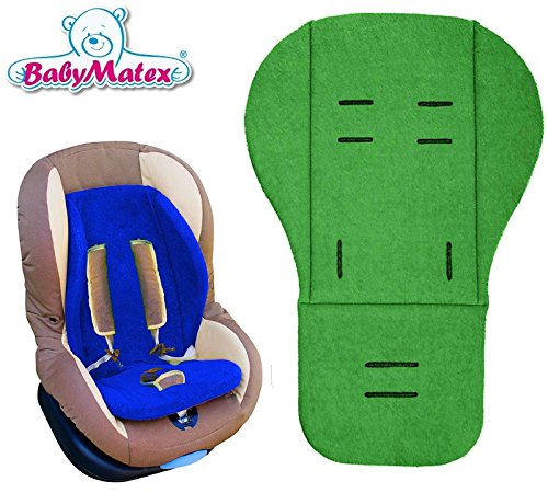 Preisvergleich Produktbild BabyMatex ** Kuschelige Sitzauflage / Sitzeinlage IRIS ** DICK und WEICH ** Universal für Babyschale, Autokindersitz, z.B. für Maxi-Cosi, Römer, für Kinderwagen o. Buggy etc. ** GRÜN **