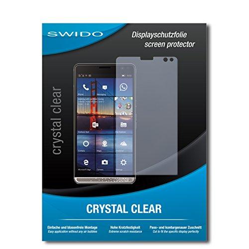 SWIDO Schutzfolie für HP Elite X3 [2 Stück] Kristall-Klar, Hoher Härtegrad, Schutz vor Öl, Staub und Kratzer/Glasfolie, Displayschutz, Displayschutzfolie, Panzerglas-Folie