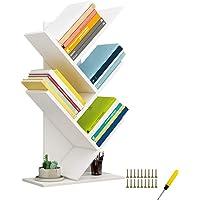 QUMENEY Bibliothèque en bois avec 5 étagères - Pour livres, CD, albums, dossiers, etc. - Pour la maison, le bureau…