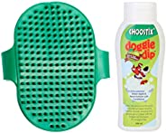 Choostix Combo of Dog Hand Brush & Dog Shampoo Tick and Flee, 2