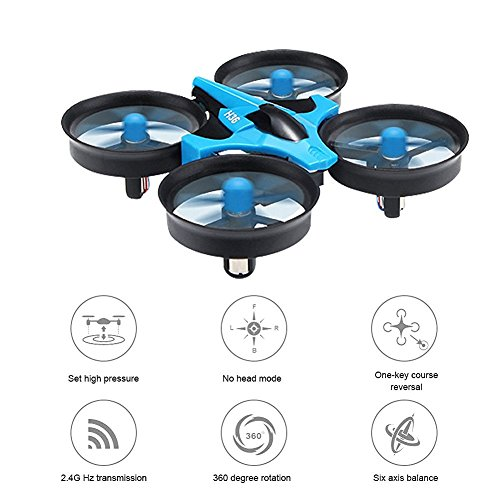 JJRC H36 MINI Drone 2.4G 4CH 6 Achsen-Gyro Headless Modus CF-Modus One Key Return RC Quadcopter RTF (Blau) - 6