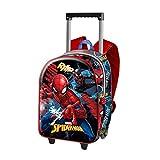 Spiderman Smash-3D Rucksack mit Rädern (Klein) Sac à Dos Enfants, Bleu