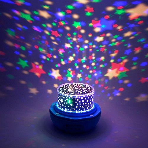 Generic l8-white Rosa Star Auto Rotate LED Lampe 4Zeuge von Dias Farbwechsel Licht Nacht weiß