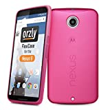 Orzly - Motorola NEXUS 6 Protective Bendy Soft Gel Case ( COPERTINA / CUSTODIA in ROSA ) Custodia Protettiva in Gel di Silicone per Google NEXUS 6 SmartPhone ( 2014 MOTOROLA Modello )