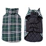 IREENUO Dog Reversible Plaid Coat Autumn Winter Warm Cozy Waistcoat British Style Dog Padded Jacket for Small Medium… 9