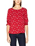 TOM TAILOR Damen Bluse trendy Print Blouse Shirt, Rot (Scooter Red 4543), 40