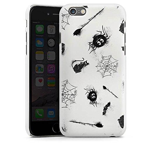 Apple iPhone 6 Plus Silikon Hülle Case Schutzhülle Halloween Muster Spinne Hard Case weiß