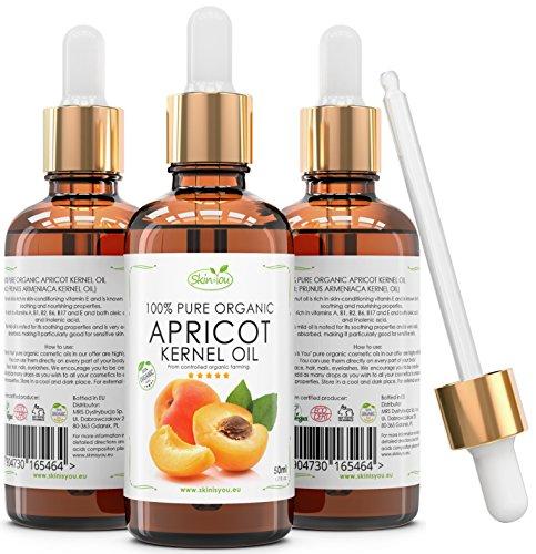 Huile de noyau d'abricot 50 ml 100% pure & biologique | Huile légère à absorption rapide | Premier choix pour les massages | Réduit les cernes et gonflements autour des yeux | hydratation longue durée | Des cheveux brillants magnifiques qui ne graisse pas