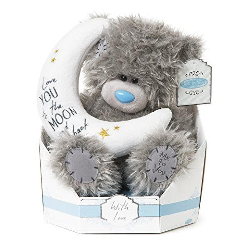 "Me to You SG01W4100 ""Tatty Teddy Signature Collection"" Love you to the moon and back, sitzend, Plüsch-Spielzeug, 22,9 cm hoch"