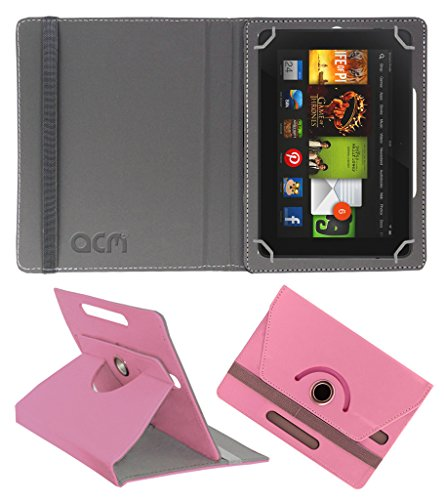 Acm Rotating 360° Leather Flip Case For kindle Fire Hd 7 2012 2nd Gen Tablet Cover Stand Light Pink  available at amazon for Rs.149