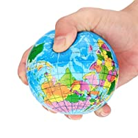 DRESS 2018 Cute Creative New Squishy Stress Relief World Map Foam Ball Atlas Globe Palm Ball Planet Earth Ball