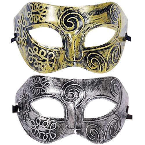 sken, Gesichtsmaske Venezianische Masken für Kostümball/Maskenball/Halloween 2tlg ()