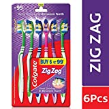 Colgate ZigZag Medium Bristle Toothbrush - 6 Pcs