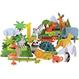 Petit Collage Animals Of The World Deluxe Pop-Out by Petit Collage