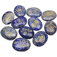 Harmonize Lapis Lazuli Oval Form 11 Stück Reiki Heilung Kristall Set Spirituelle Geschenk Karuna Symbol preisvergleich bei billige-tabletten.eu