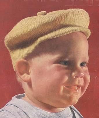 Little Jack Horner Newsboy Hat Cap Tam For Baby Vintage Knit