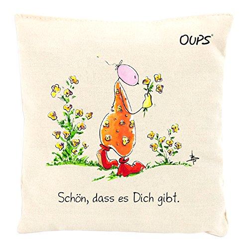 Kräuter Duftkissen Duftkuschler mit einer liebenswerten Botschaft von Oups: Schön, dass es dich gibt, 11x11 cm - Kräuter-deo-kräuter-duft