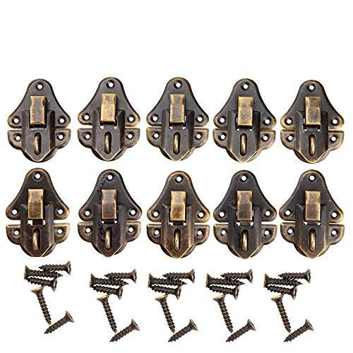 10 piezas 48 x 35 mm Vintage decorativo armario cerradura bloc de pest