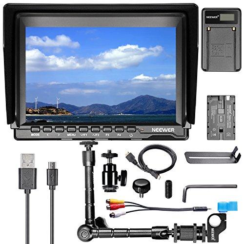 Neewer® NW759 7Inch HD-Kamera-Monitor-Set, 1280x800 IPS Schirm-Kamera-Monitor + 11Inch magischen Arm + USB-Ladegerät + F550 Ersatz-Akku für Sony Canon Nikon Olympus Pentax Panasonic (Dslr Monitor 7)