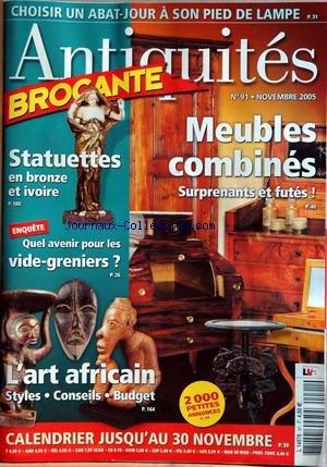 ANTIQUITES BROCANTE [No 91] du 01/11/2005 par COLLECTIF