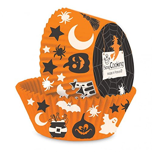 hr 5087Halloween 36Stück Muffinförmchen Papier geeignet im Kontakt Lebensmittel Mehrfarbig 21x 10,7x 3cm (Scrapcooking Halloween)