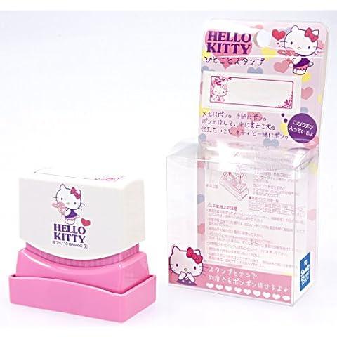 Hello Kitty B de tinta de color rosa cara de un sello tamaño 13mmx42mm qmy-k004una Hello Kitty sello palabra chic (importación de