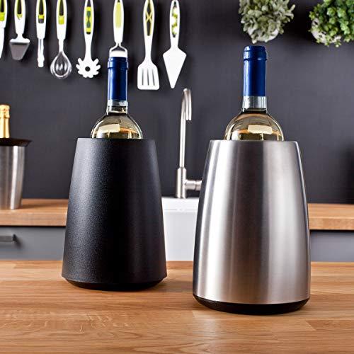 Vacu Vin Aktiv Weinkühler Elegant - Schwarz, Kunststoff