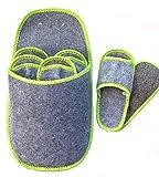 Bequeme Gästehausschuhe, 6er-Set, in den Größen 36-46, Anti-Rutsch Sohle, Unisex, Hausschuhe, warm, Filzpantoffeln, freie Zehen dadurch bessere Luftzirkulation, inkl. Aufbewahrung in Schuhform