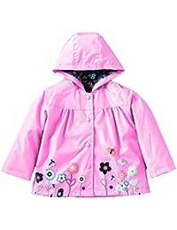 GudeHome Niñas Chubasqueros lluvia capa de la chaqueta verano encapuchado impermeable primavera Mac impermeable Edad 1 a 6 años