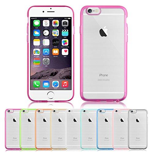 [iPhone/6s, doppia tonalità] SOOPER-Custodia morbida trasparente in Gel TPU-Custodia in Silicone per Apple iPhone, 6s, plastica, turchese