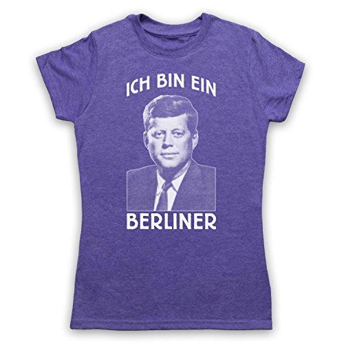 JFK Ich Bin Ein Berliner Damen T-Shirt Jahrgang Violett