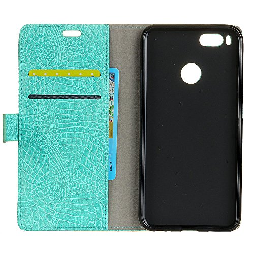 Stylish Crocodile Pattern Solid Color PU Leder Schutzhülle Case Flip Stand Case mit Wallet Funktion für Xiaomi 5x ( Color : White ) Green