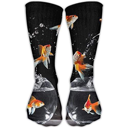 uytrgh Classics Kompressionssocken Sea Art Turtle Crab Personalisierte Sport Athletic 50cm Lange Crew Socken für Männer Frauen -