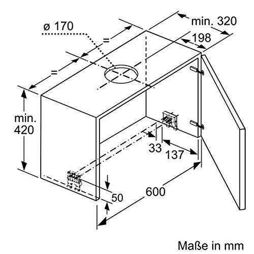 Bild 2: Neff DED4652X (D46ED52X0) / Flachschirmhaube 60cm Wahlweise Abluft- oder Umluftbetrieb