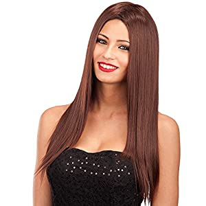 Carnaval Juguetes 2856 - peluca, largo, marrón