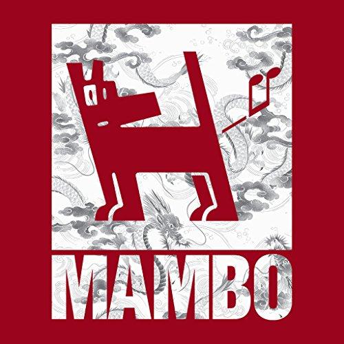 Mambo Japan Dog Grey Women's T-Shirt Cherry Red