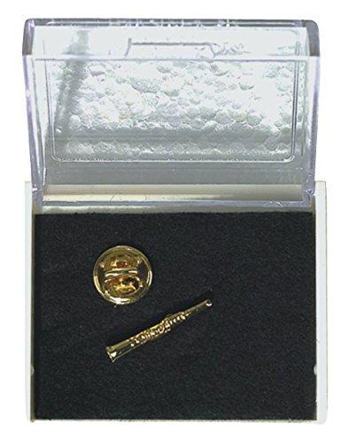 GEWA Unisex-Brosche Anstecknadel Klarinette, goldfarbig - 980040