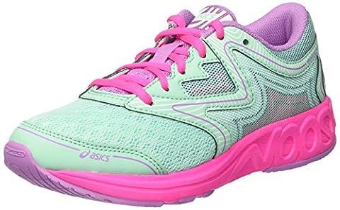 Asics Noosa Gs, Chaussures de Running Compétition Mixte Enfant, Vert (Ice Green/White/Hot Pink), 33.5 EU
