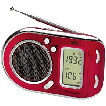 AEG - WE 4125 - Radio multifréquences - Rouge