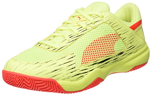 Puma Evospeed NF Euro 5, Chaussures Multisport Indoor Mixte Adulte Jaune (Fizzy Yellow-red Blast-puma Black)