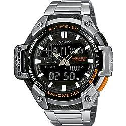Casio Collection Reloj Analógico/Digital de Cuarzo para Hombre con Correa de Acero Inoxidable – SGW-450HD-1BER