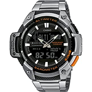 Casio Collection – Reloj Hombre Analógico/Digital con Correa de Acero Inoxidable – SGW-450HD-1BER