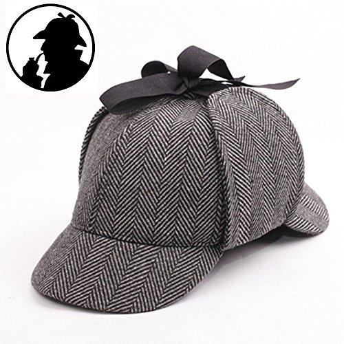 angleterre-unisexe-chapeau-sherlock-holmes-deerstalker-detecteur-chapeau-a-epingles-chapeau-a-chevro
