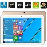 Chuwi Hi12 Tablet PC - 12 Inch Screen, Windows 10 + Android 5.1, Cherry Trail Quad Core CPU, 4GB RAM, Bluetooth 4.0 (Golden)