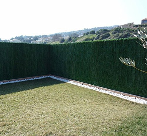 PEGANE Haie Artificielle Ultra 126 brins en PVC Coloris Vert foncé (Sapin), 1,50 m x 3 m