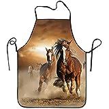 Darlene Ackerman(n) Wilde Kastanien Pferde verstellbare Schürze zum Grillen Bacon Lady & rsquo; s Men 's großes Geschenk für Frau Ladies Men Boyfriend
